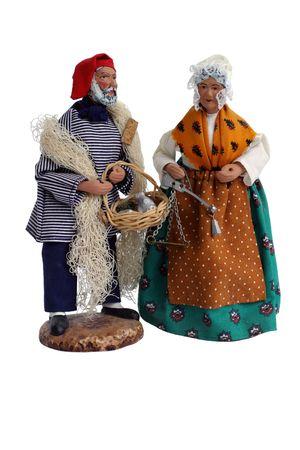 figurines: Santon Figurines - Christmas Provence Stock Photo