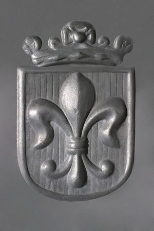 Fleur-de-Lis - pewter - Royal Coat of Arms photo