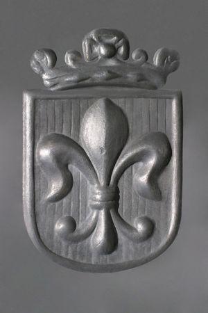 panel: Fleur-de-Lis - pewter - Royal Coat of Arms