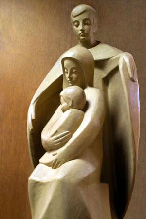 humildad: El protector - Jos� joven y Maria con el beb� Jes�s