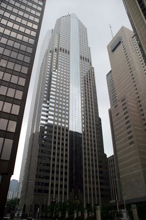 magnificent mile: Chicago - Skyscrapers on a Cloudy Day - Along the Magnificent Mile