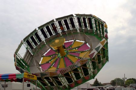 queasy: Spinning ride at the county fair