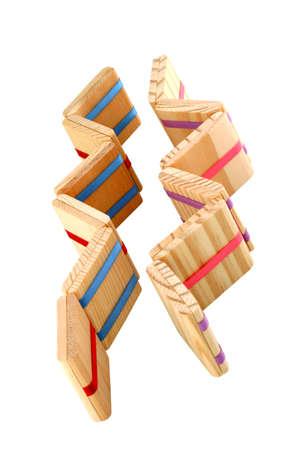 comprised: Jacob's Ladder - coppia - Un classico coloniale primi popolare giocattolo di legno, a volte anche chiamato magia compresse a causa della scomparsa di fatture o centesimi, composto da lanciando blocchi che creano un'illusione ottica che compaiono a cascata e tumble all'infinito.