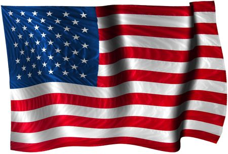 Waving flag of the U.S.A.