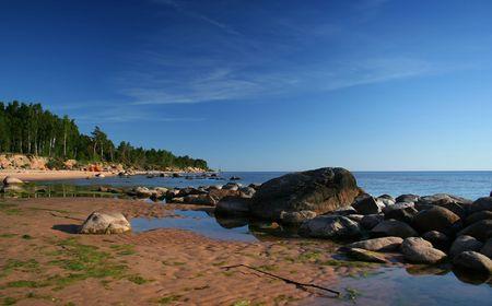 Kurmrags, Latvia, Baltic Sea coast. Stock fotó