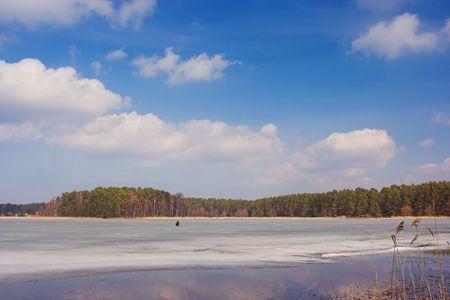 Spring lake, Latvia