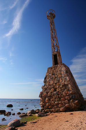 Abandoned lighthouse in Kurmrags, Latvia Stock fotó