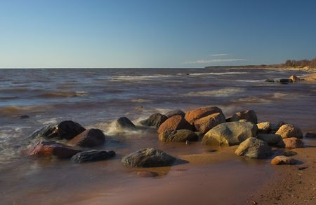Tuja, Latvia, Baltic sea coast Stock Photo