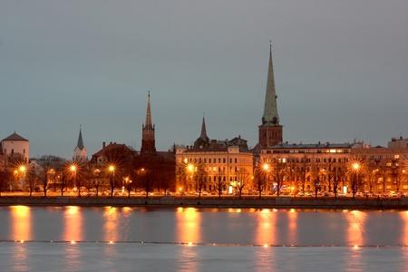 Riga - Lettország fővárosában Stock fotó