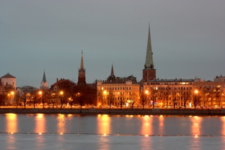 Riga - the Capital of Latvia Stock Photo