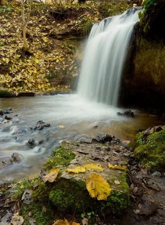 sigulda: Waterfall near Sigulda  Latvia