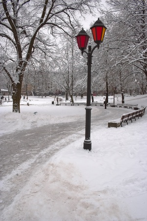 Riga - winter Stock Photo
