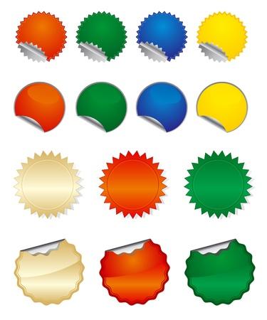 etiquetas redondas: Pegatinas redondas Vectores
