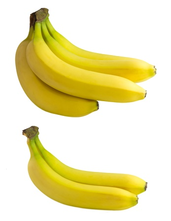 Banana isolated on white background - two variants