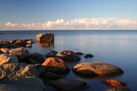 Balti-tenger partján, Mērsrags, Lettország. Expozíciós idő 20 mp.