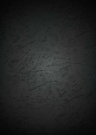 Grunge Black Paper Textured Background with Dark Vignette