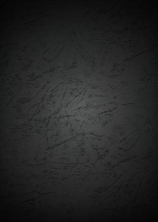 Grunge Black Paper Textured Background with Dark Vignette