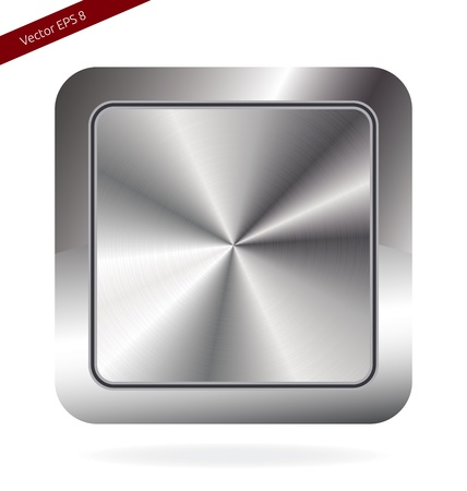 Blank Metallic Button . For Web, Applications or Design Use Illustration