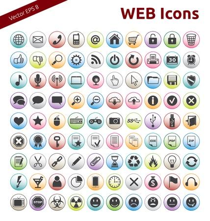 90 Icons for Web, Internet, Design, Social Networks Illustration