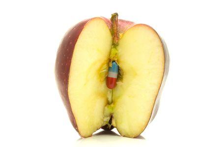 sliced apple: Sliced apple.