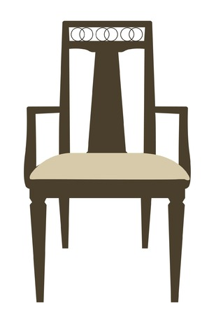 frontal: Frontal Chair Illustration