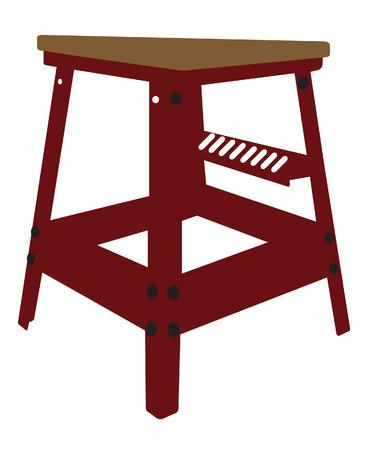 Red Stool Illustration Stock Vector - 6038277