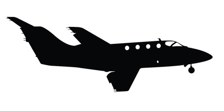 Smaller Commercial Plane Silhouette Vector