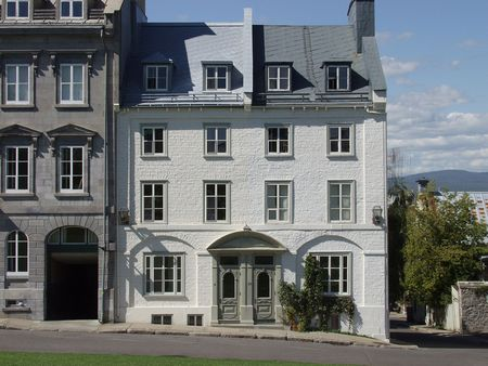 seventeenth: Stone townhouses in Old Quebec City, Quebec, Canada.