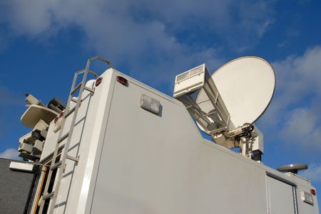The top of a North American TV news truck. Stock Photo - 861181