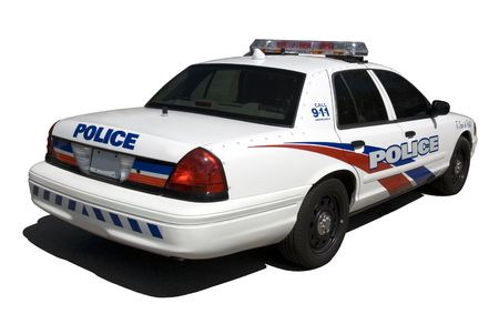 A new North American police interceptor isolated on white. (This JPEG file includes a clipping path to isolate the vehicle and the shadow.)