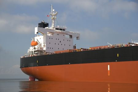 moored: The bridge of an empty freighter anchored off the west coast of North America.