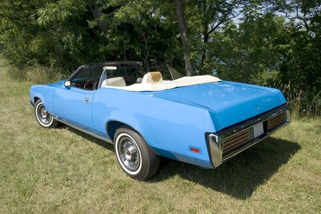 immaculate: An immaculate blue 1971 convertible. Stock Photo