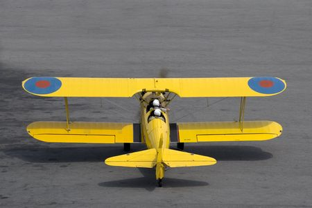 A vintage (circa 1942) trainer prepares for takeoff. Stock Photo - 1142734