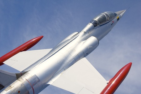 A single-engine, high-performance, supersonic interceptor aircraft. Stock Photo - 1463310