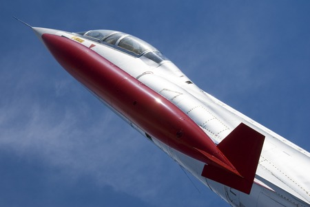 A single-engine, high-performance, supersonic interceptor aircraft. Stock Photo - 1490779