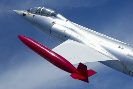 A single-engine, high-performance, supersonic interceptor aircraft. Stock Photo - 1726075