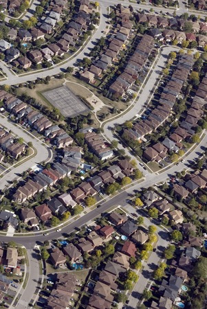 zoned: Patterns found in contemporary American suburban housing developments.