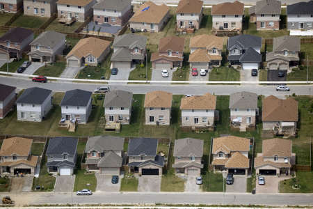 Patterns found in contemporary American suburban housing developments. Stock Photo - 1829739