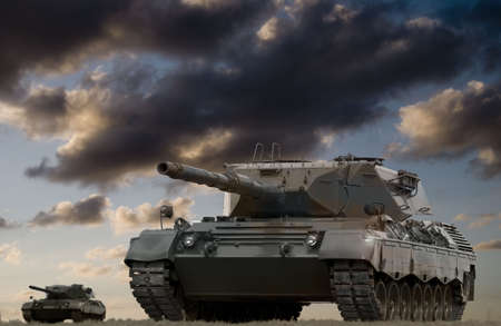 war and military: European-built main battle tanks preparing to engage the enemy.