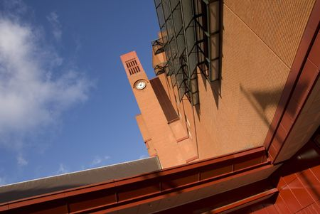 The clock tower of the British Library adjacent to St Pancras International Station in London. Stock Photo - 2242668