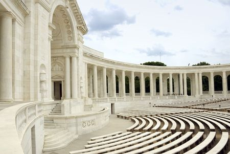 The Auditorium, near the Tomb of the Unknown Soldier, in Arlington National Cemetery, Virginia, USA. Stock Photo