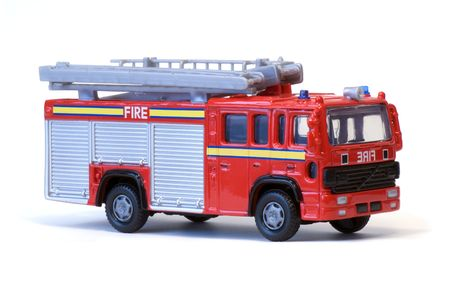 brigade: A toy London fire engine.