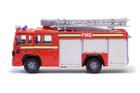 engine fire: A toy London fire engine.