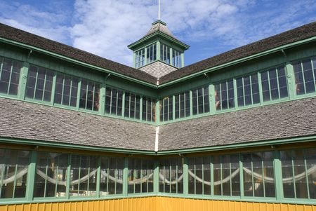 restored: A detail of Crystal Palace in Prince Edward County, Ontario, Canada.