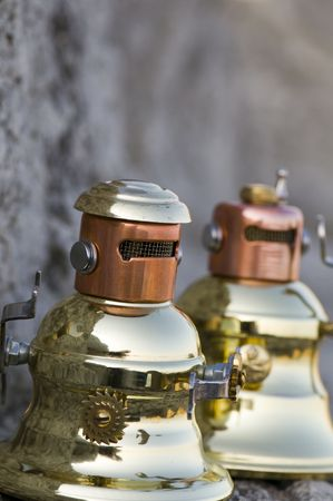 Two very angry metal robots. Stock Photo - 3040671