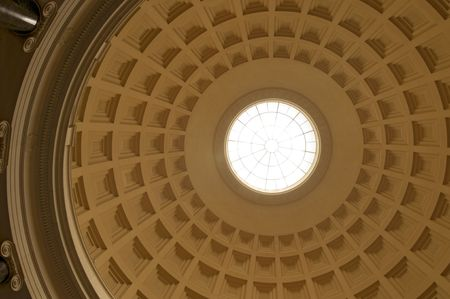 hemispherical: The interior of the dome of the National Gallery of Art in Washington, DC.