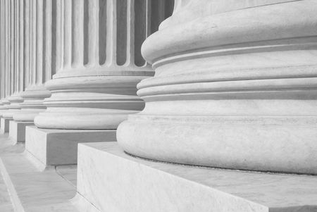 A row of columns at the entrance to the US Supreme Court in Washington, DC. Stock Photo - 3406159