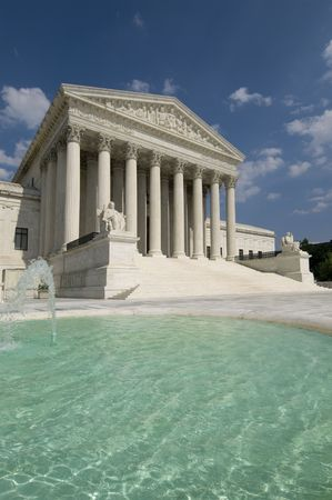 unites: The front of the US Supreme Court in Washington, DC. Stock Photo