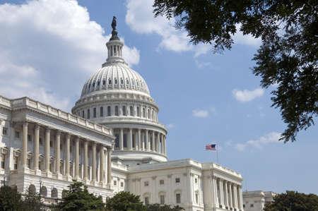 capital humano: El Capitolio, ubicado en Washington, DC, es el edificio en el que el Congreso de los Estados Unidos se re�ne. Es en el extremo este del National Mall, un lugar descrito por el ingeniero que lo eligi� como  Foto de archivo