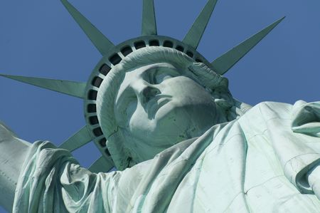 enlightening: The Statue of Liberty Enlightening the World was a gift of friendship from the people of France to the people of the United States and is a universal symbol of freedom and democracy. Stock Photo